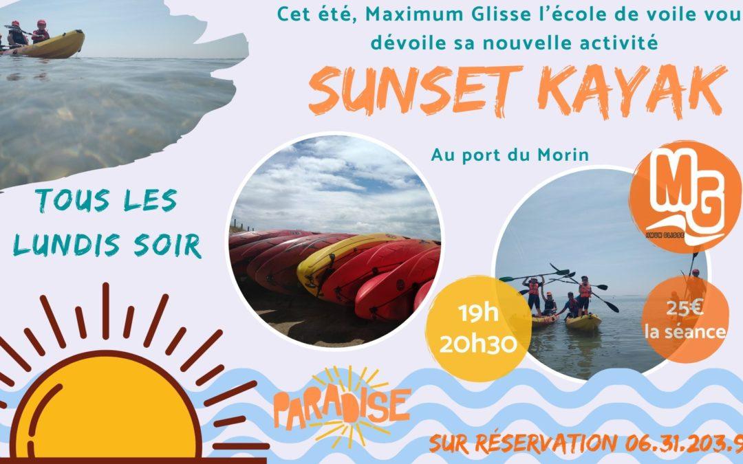 Et si vous vous laissiez tenter par une sortie kayak au coucher du soleil ?