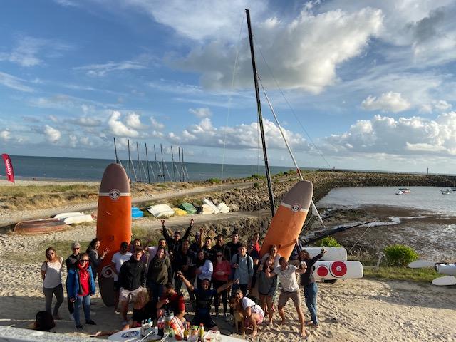 Séance paddle pour les saisonniers de l'île